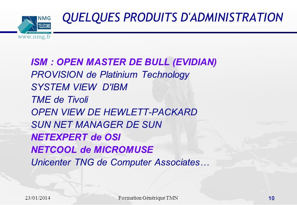 QUELQUES PRODUITS D ADMINISTRATION