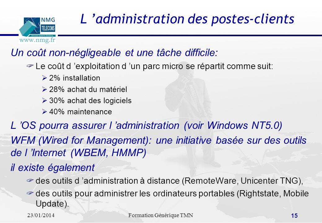 L 'administration des postes-clients