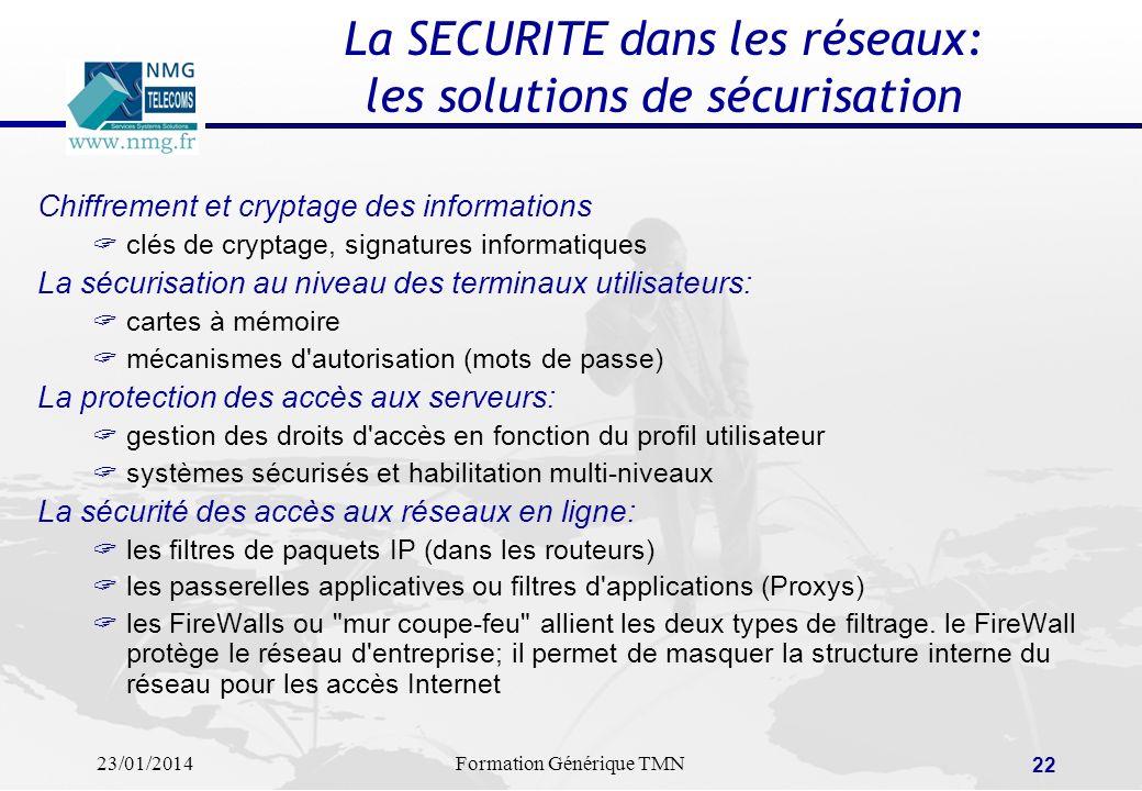 La SECURITE dans les réseaux: les solutions de sécurisation
