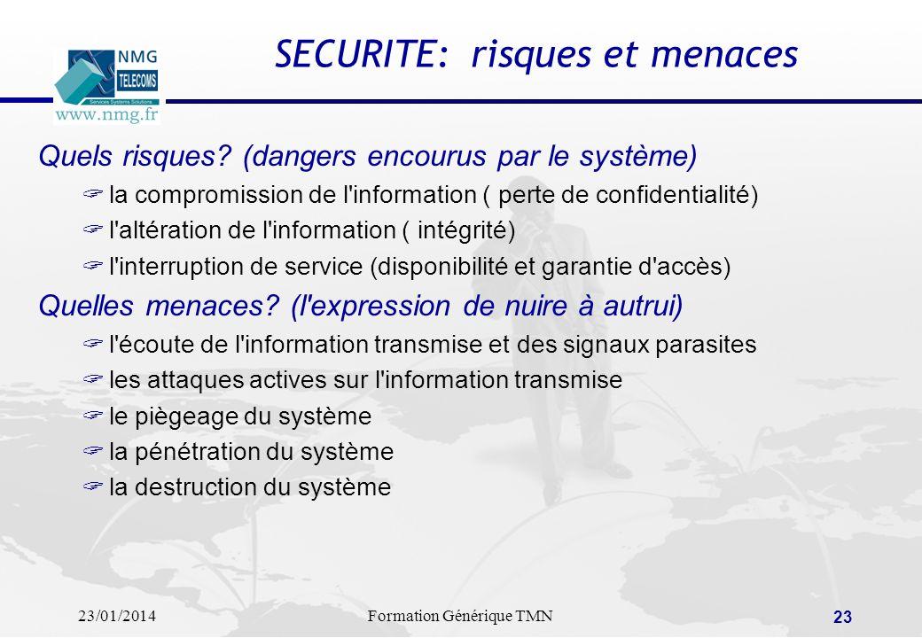 SECURITE: risques et menaces
