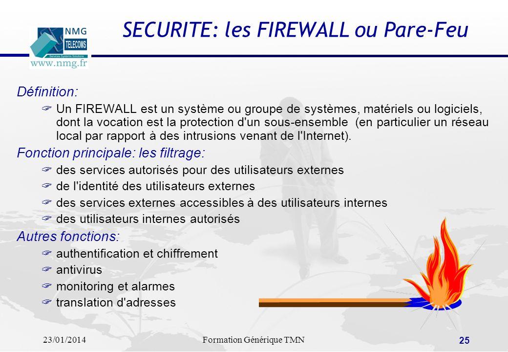 SECURITE: les FIREWALL ou Pare-Feu