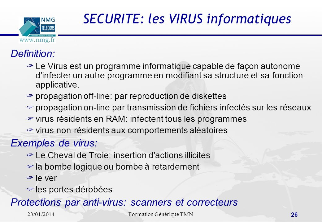SECURITE: les VIRUS informatiques
