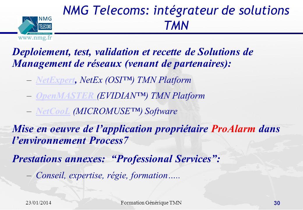 NMG Telecoms: intégrateur de solutions TMN