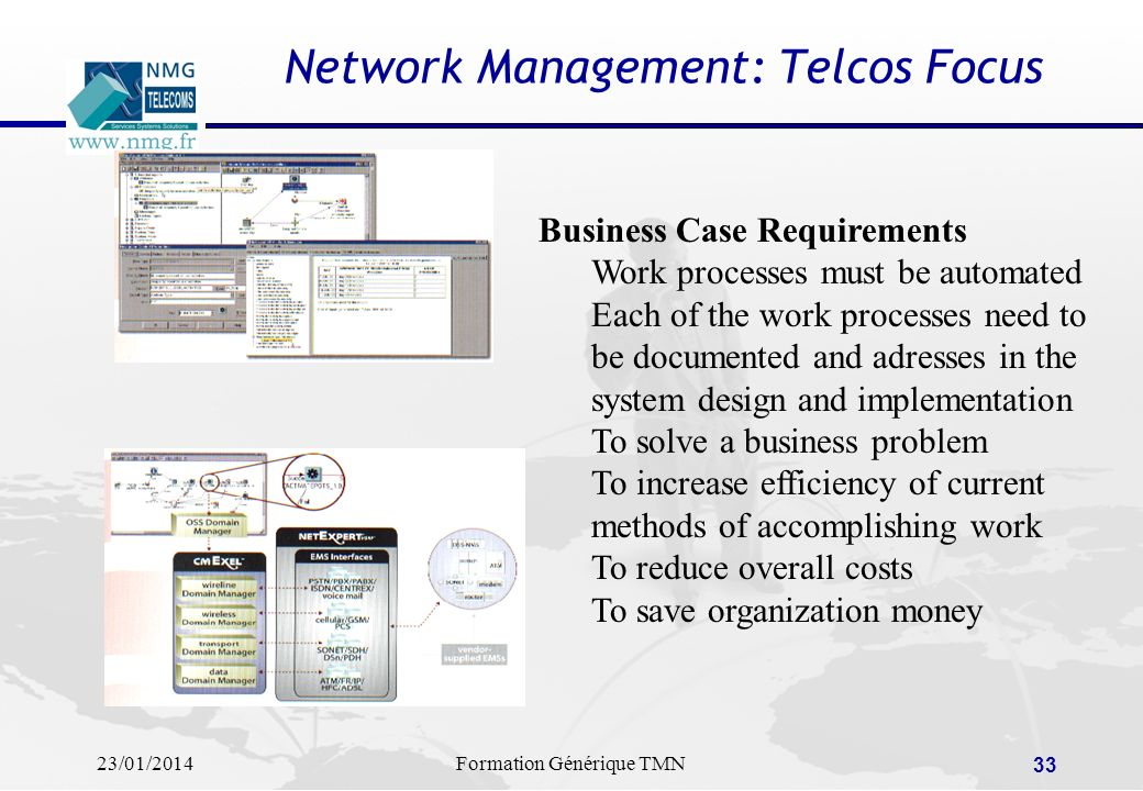 Network Management: Telcos Focus