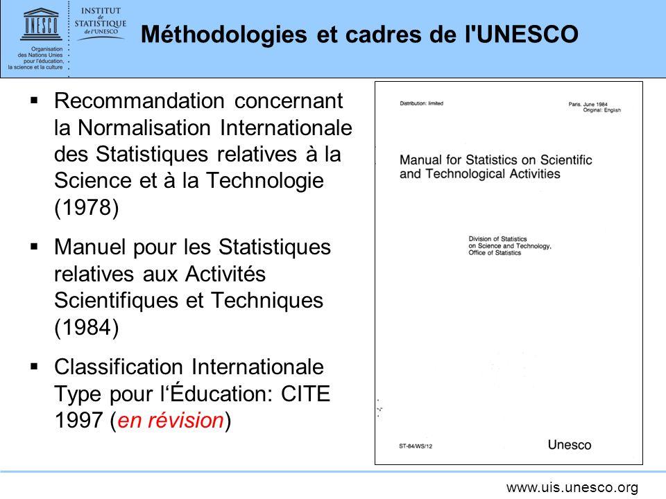 Méthodologies et cadres de l UNESCO