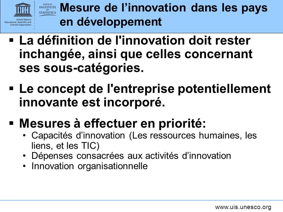 Mesure de l'innovation dans les pays en développement