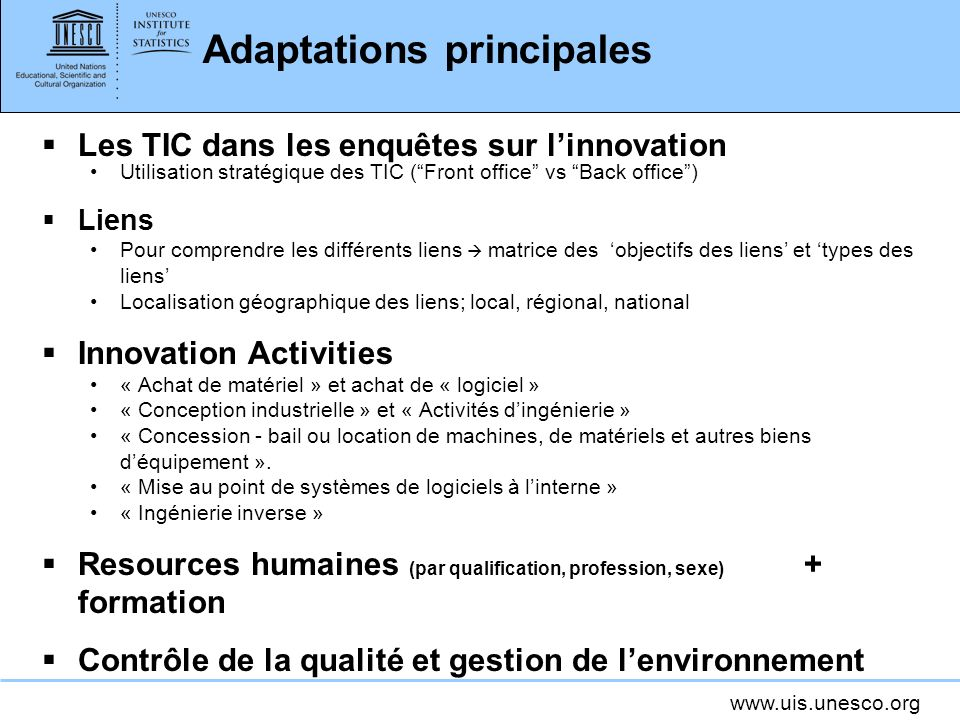 Adaptations principales