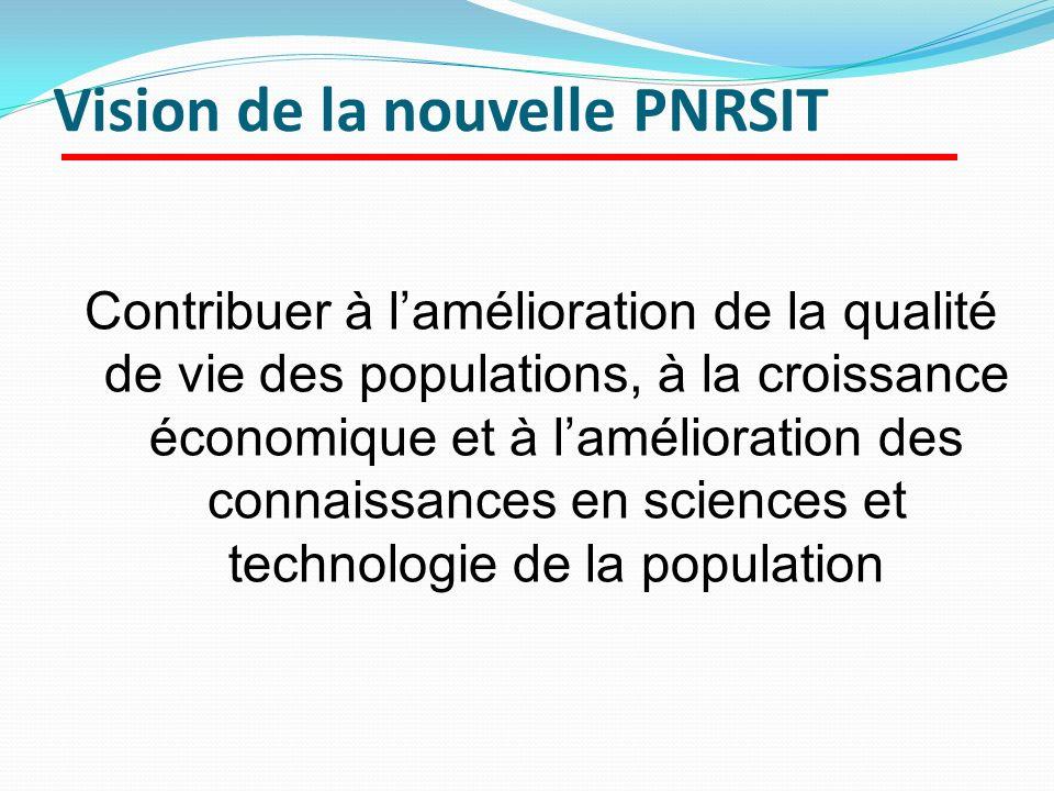 Vision de la nouvelle PNRSIT