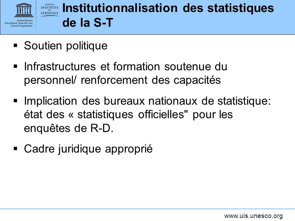 Institutionnalisation des statistiques de la S-T