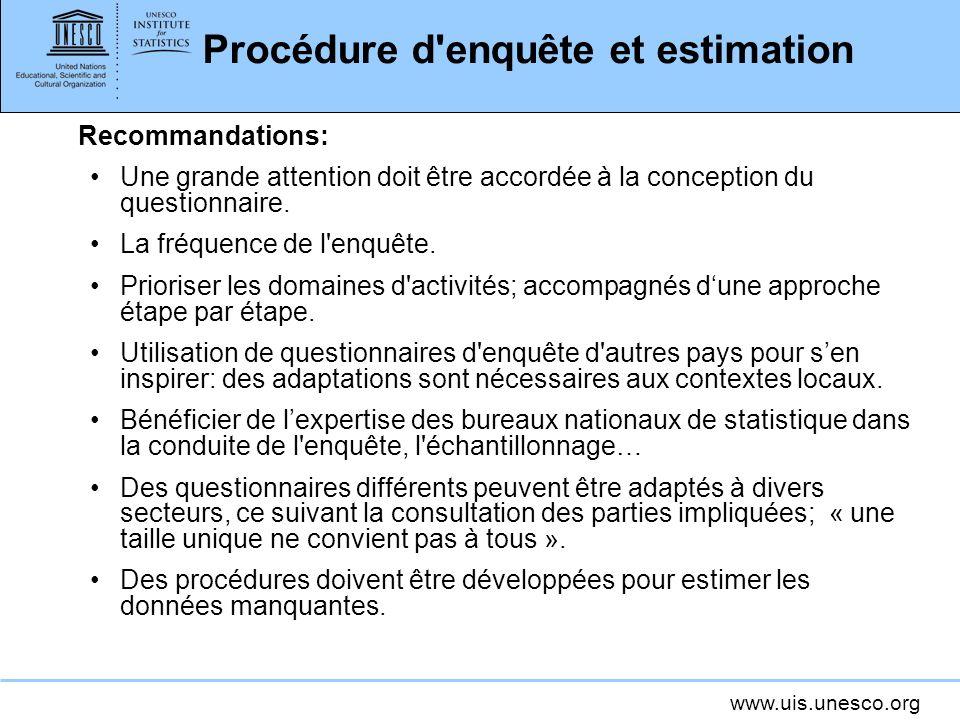 Procédure d enquête et estimation