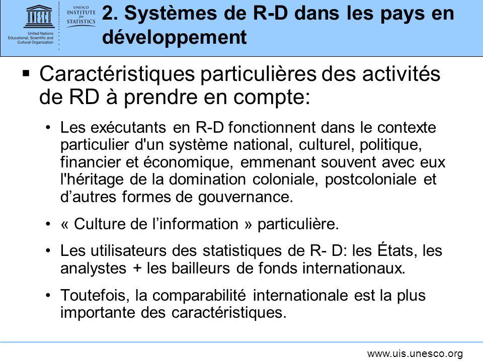 2. Systèmes de R-D dans les pays en développement