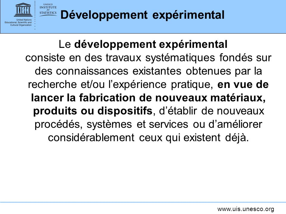 Développement expérimental