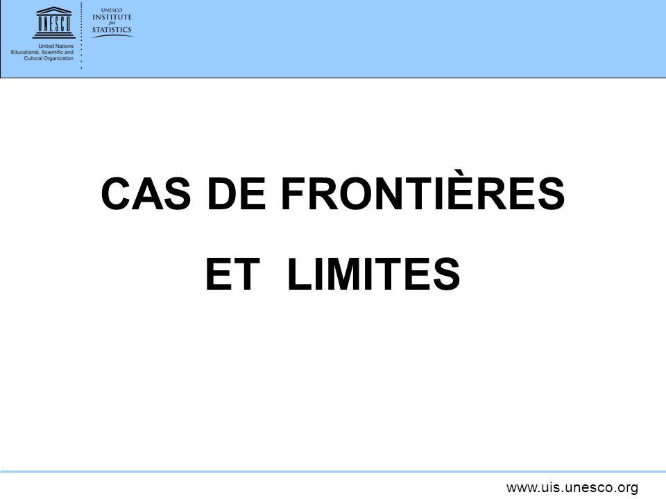 CAS DE FRONTIÈRES ET LIMITES