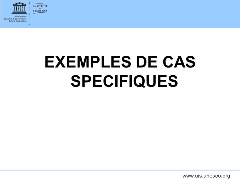 EXEMPLES DE CAS SPECIFIQUES