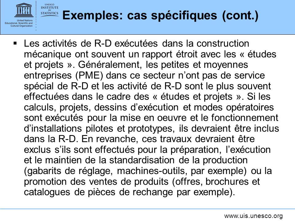 Exemples: cas spécifiques (cont.)