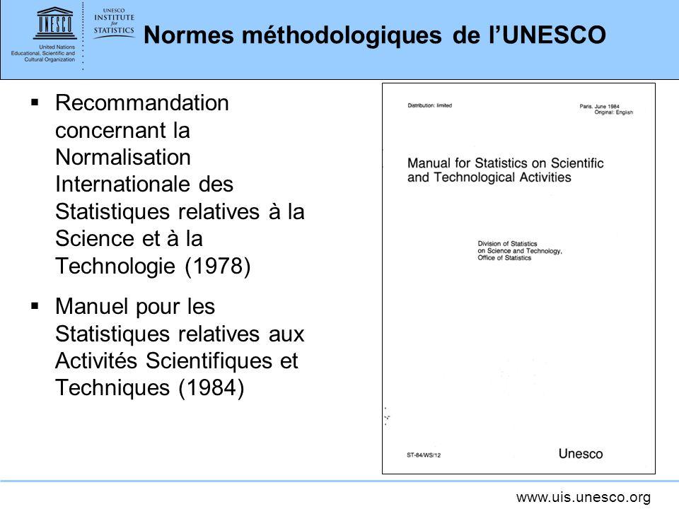 Normes méthodologiques de l'UNESCO