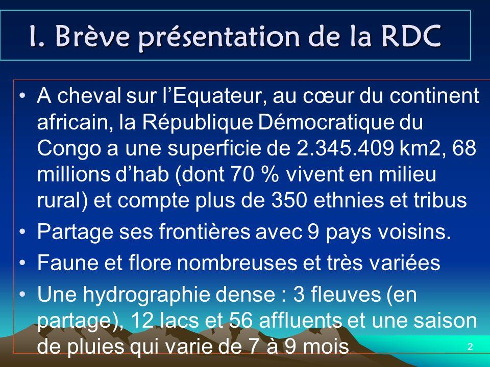 I. Brève présentation de la RDC