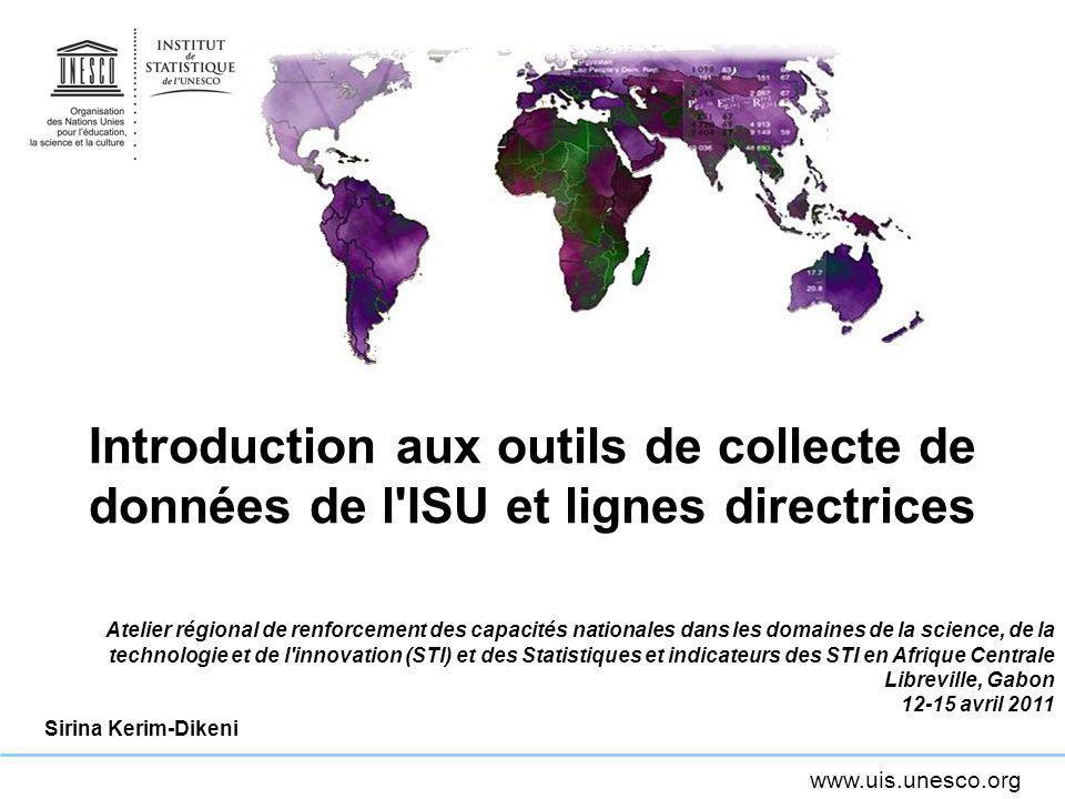 Introduction aux outils de collecte de données de l ISU et lignes directrices