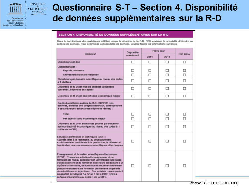 Questionnaire S-T – Section 4