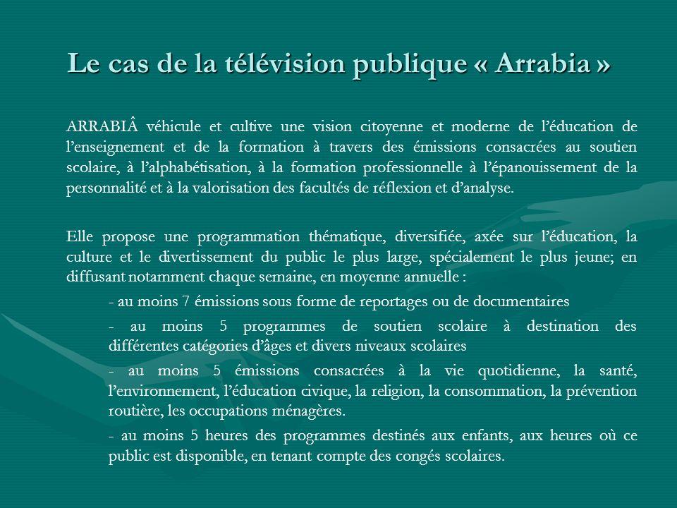 Le cas de la télévision publique « Arrabia »
