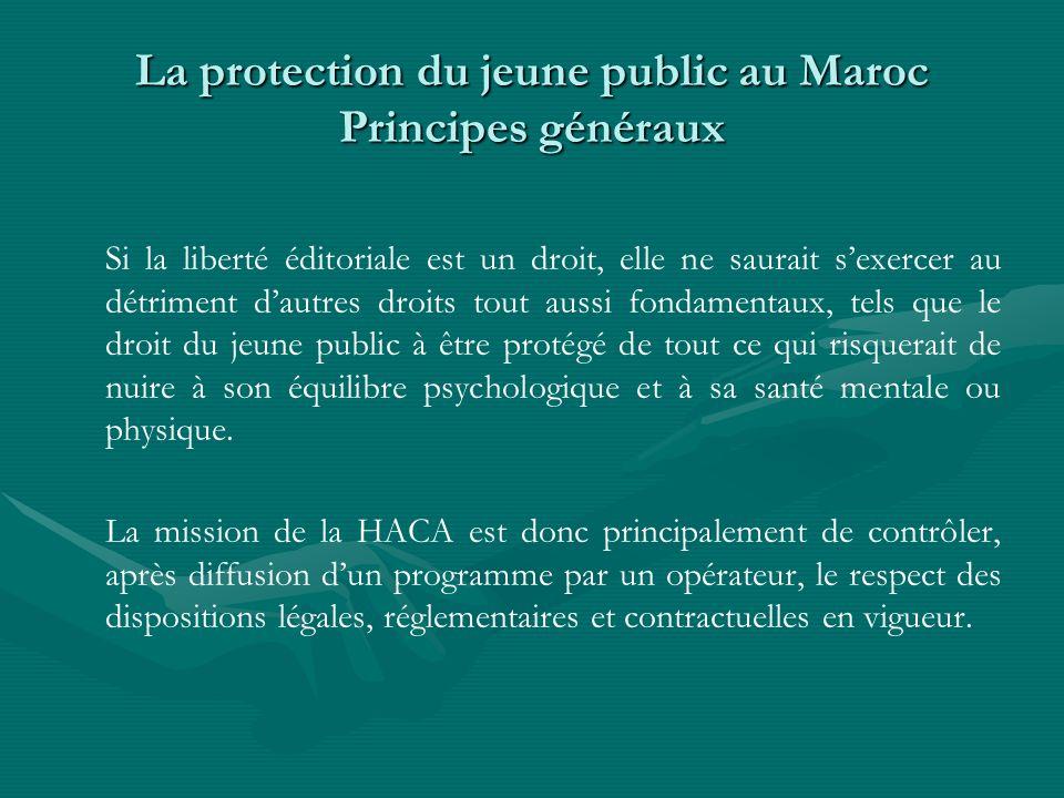 La protection du jeune public au Maroc Principes généraux