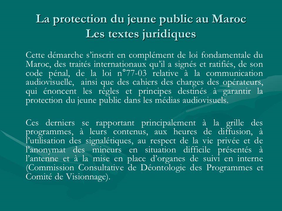 La protection du jeune public au Maroc Les textes juridiques
