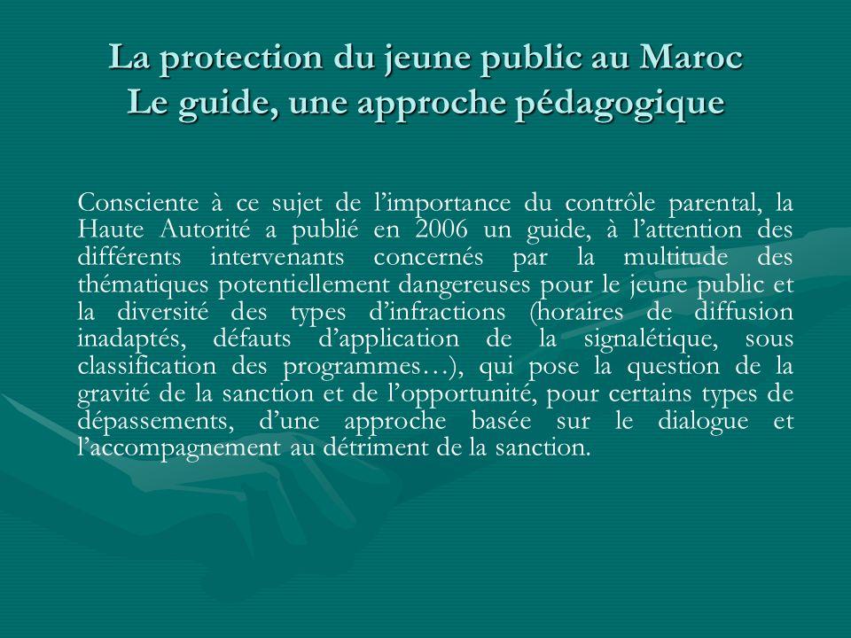 La protection du jeune public au Maroc Le guide, une approche pédagogique