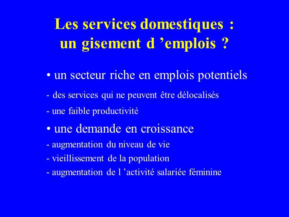 Les services domestiques : un gisement d 'emplois