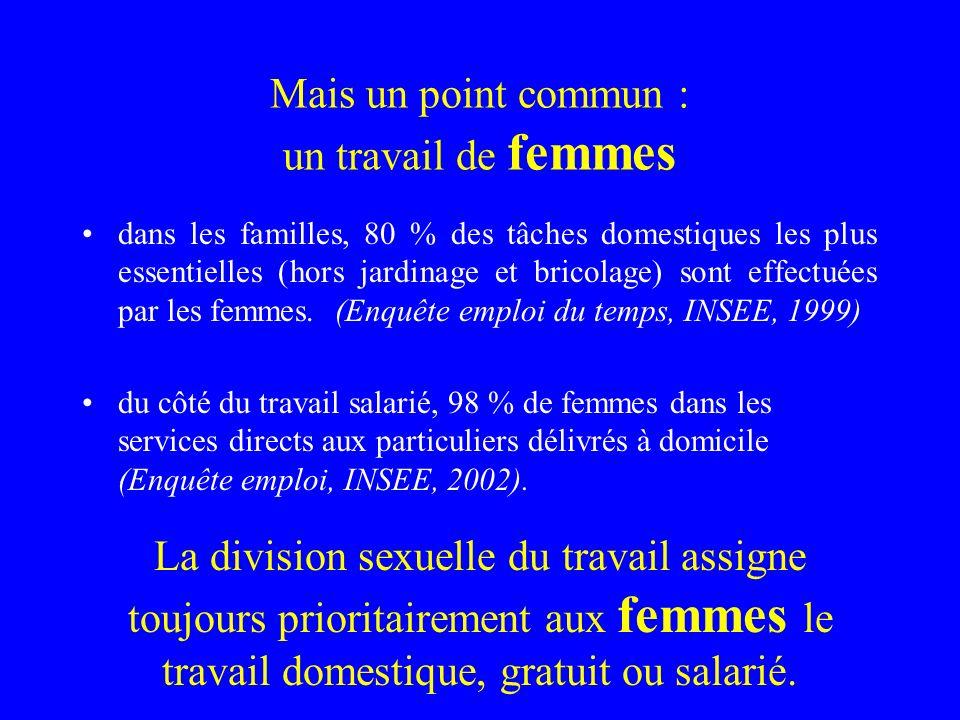 Mais un point commun : un travail de femmes