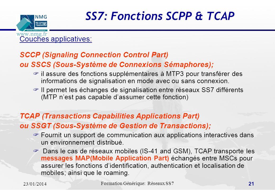 SS7: Fonctions SCPP & TCAP