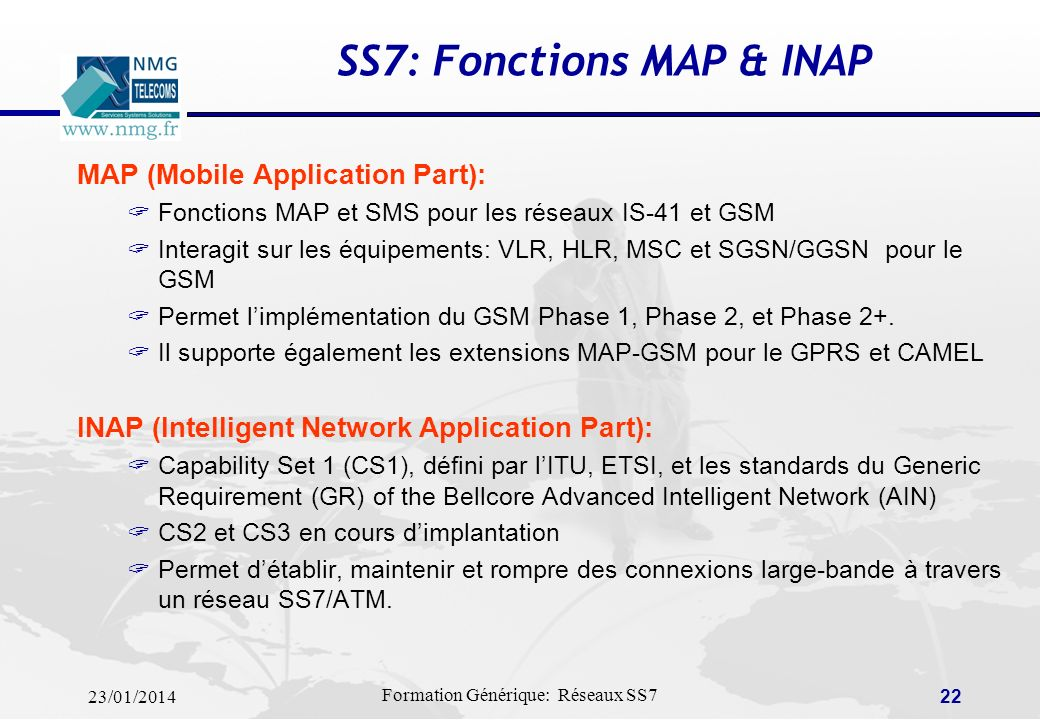 SS7: Fonctions MAP & INAP