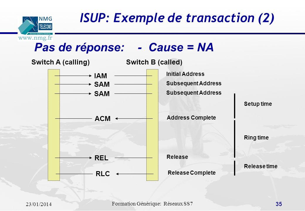 ISUP: Exemple de transaction (2)