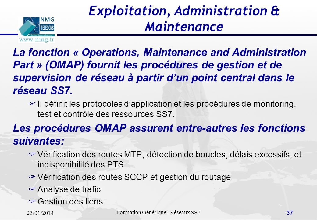 Exploitation, Administration & Maintenance