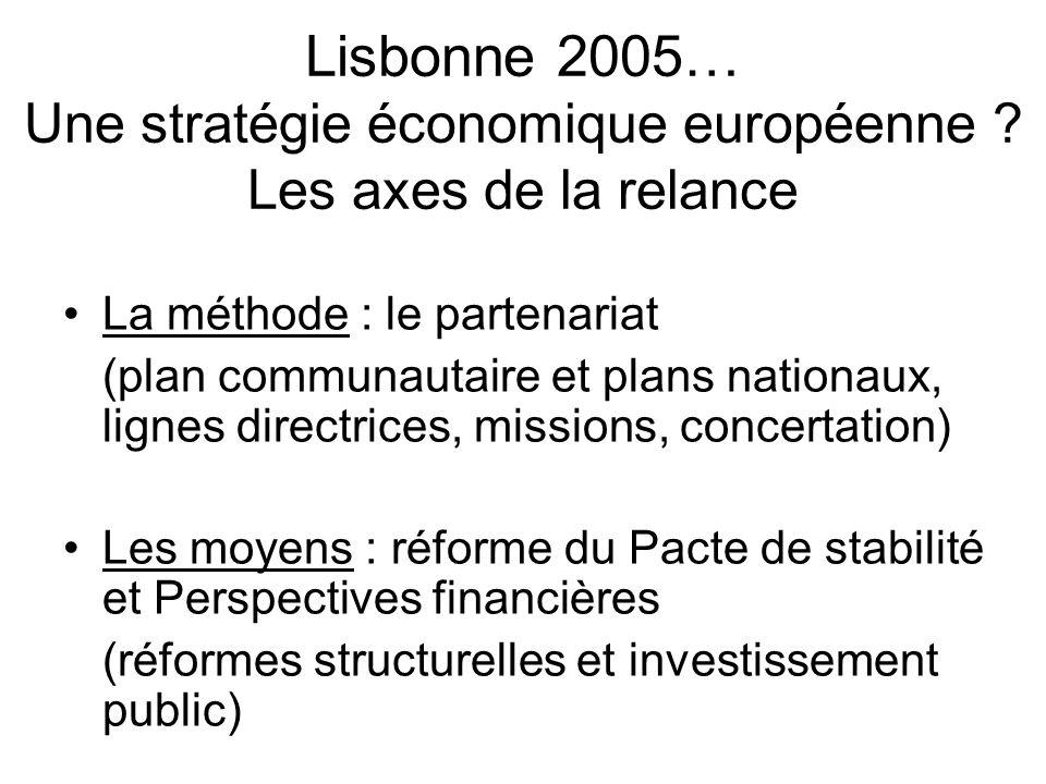 Lisbonne 2005… Une stratégie économique européenne