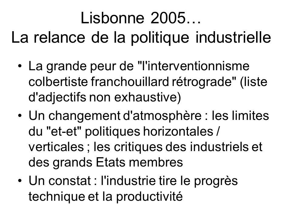 Lisbonne 2005… La relance de la politique industrielle