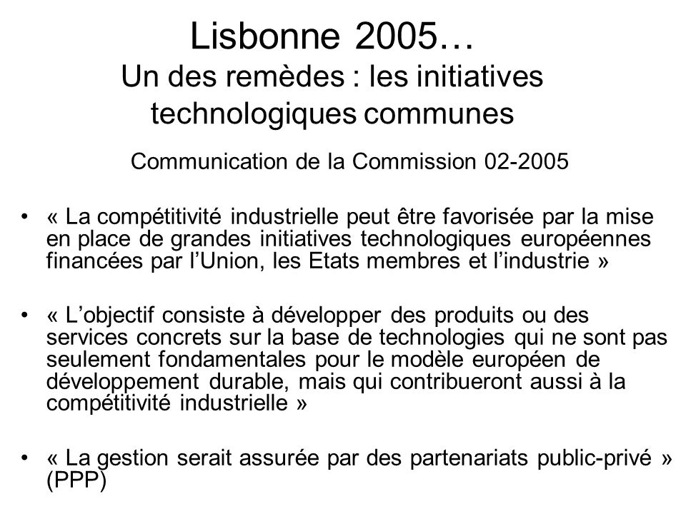 Communication de la Commission 02-2005