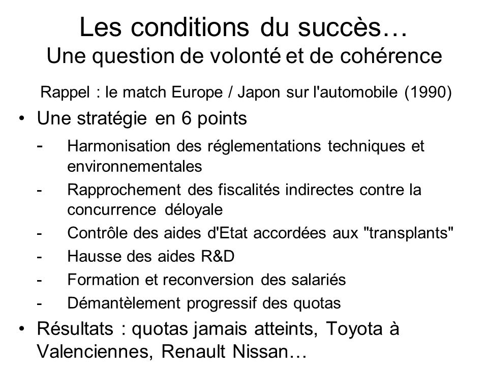 Les conditions du succès… Une question de volonté et de cohérence