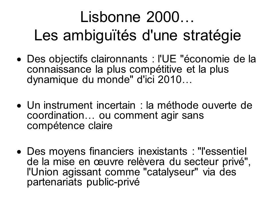 Lisbonne 2000… Les ambiguïtés d une stratégie