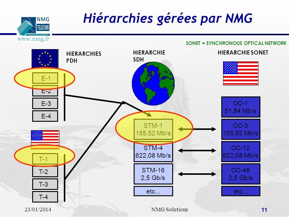 Hiérarchies gérées par NMG