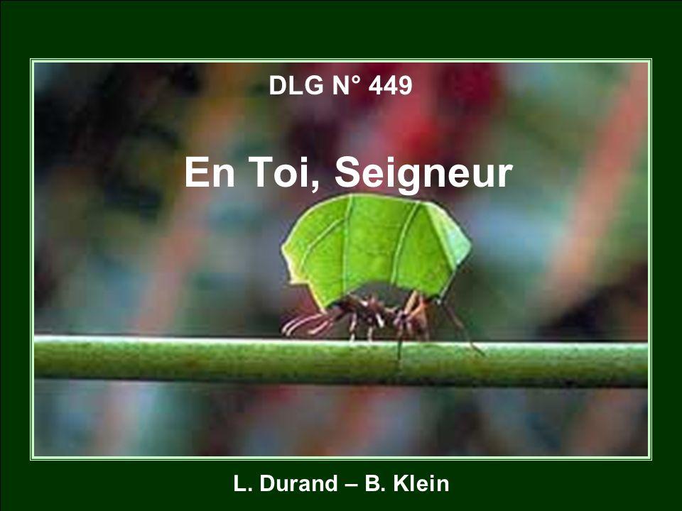 DLG N° 449 En Toi, Seigneur L. Durand – B. Klein