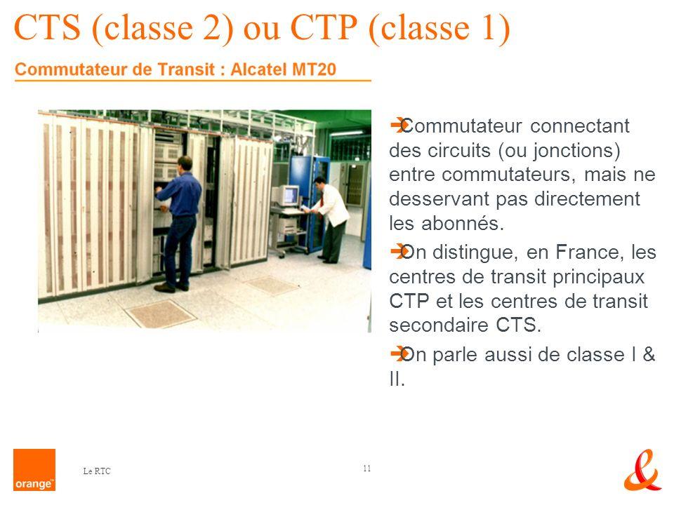 CTS (classe 2) ou CTP (classe 1)