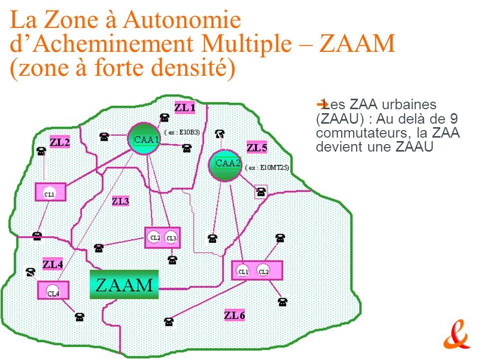 La Zone à Autonomie d'Acheminement Multiple – ZAAM (zone à forte densité)