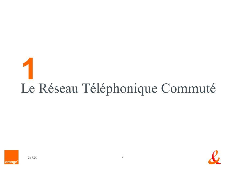 1 Le Réseau Téléphonique Commuté Le RTC