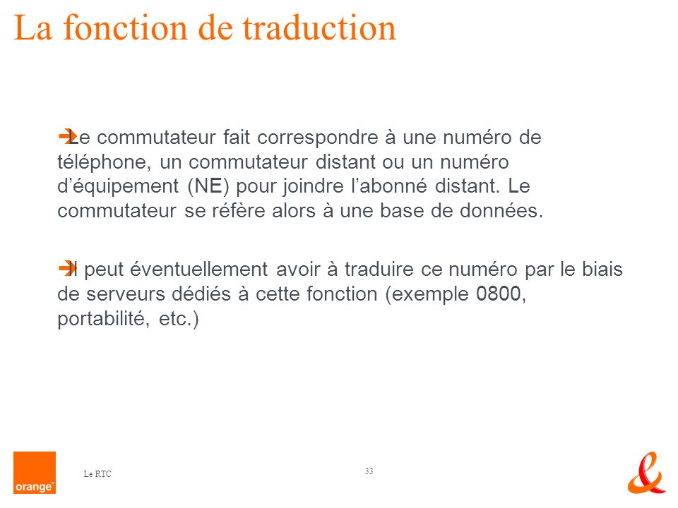 La fonction de traduction