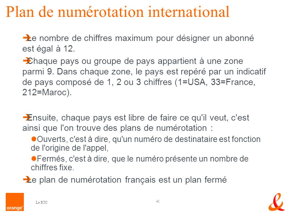 Plan de numérotation international