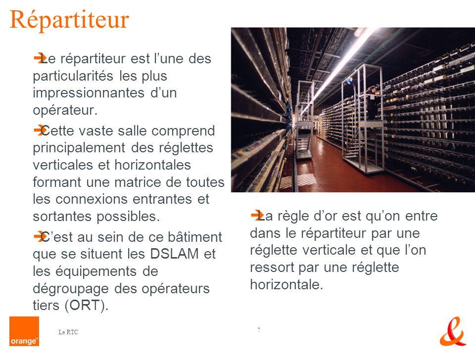 Répartiteur Le répartiteur est l'une des particularités les plus impressionnantes d'un opérateur.
