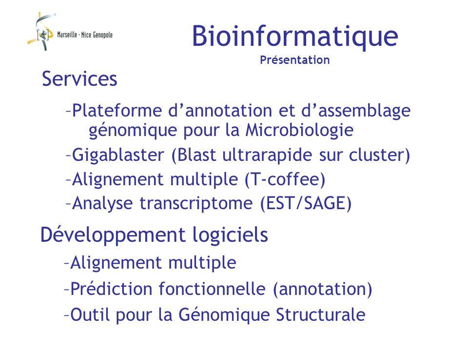 Bioinformatique Services Développement logiciels