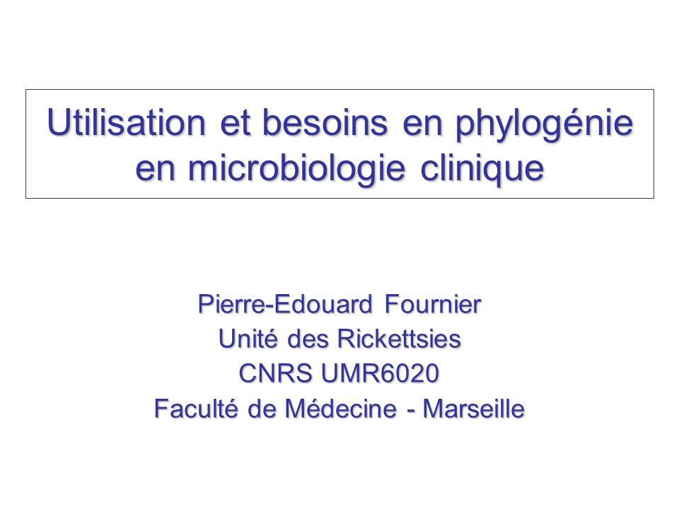 Utilisation et besoins en phylogénie en microbiologie clinique