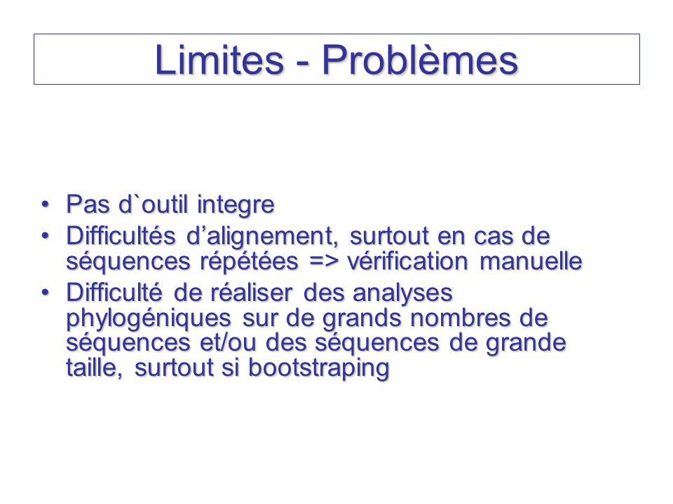 Limites - Problèmes Pas d`outil integre