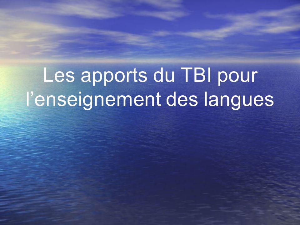 Les apports du TBI pour l'enseignement des langues